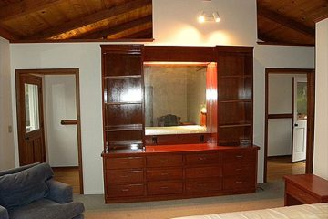 beautiful wood stain bookcase